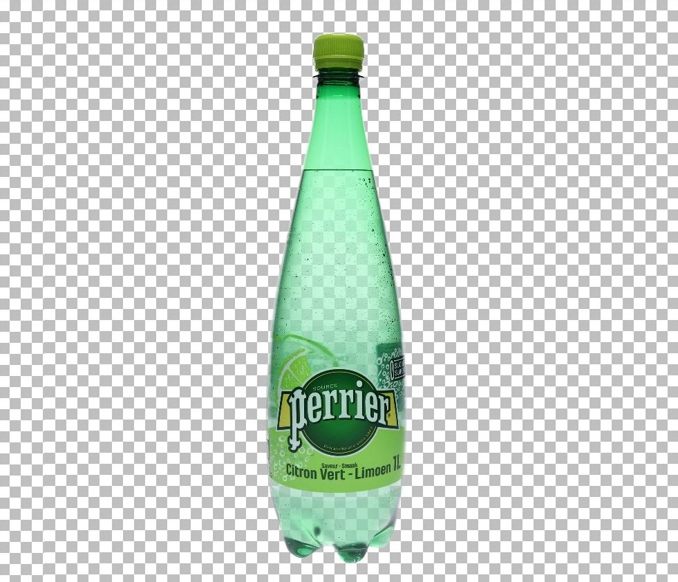 photo of a transparent bottle wih AutoMask