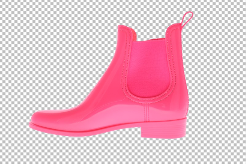 automatically create a transparent PNG file for rain boots with Autopng
