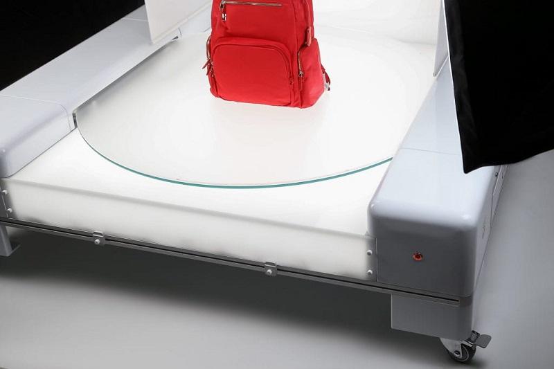 Plataforma 360 y sistema de luz Led para fotografia 360 de productos