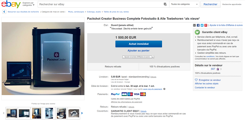 Estudio foto Packshot de segunda mano ebay