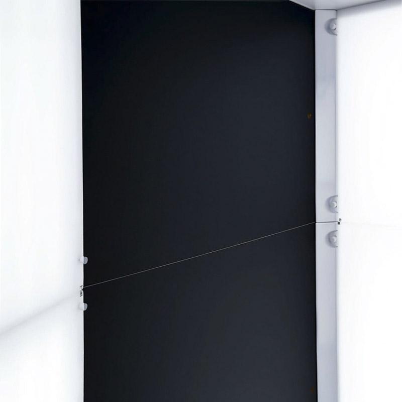 Los lados dentro de un estudio fotográfico automatizado.