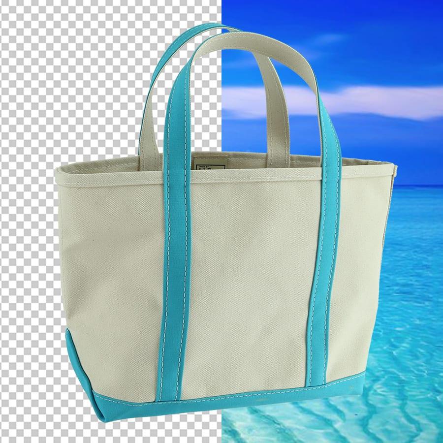 eliminación de fondo al fotografiar una bolsa