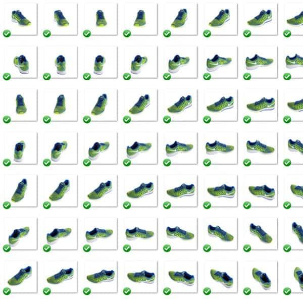Imagen multi-vista de los zapatos.