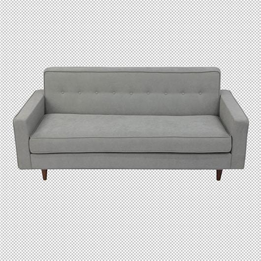 sofá sobre fondo transparente