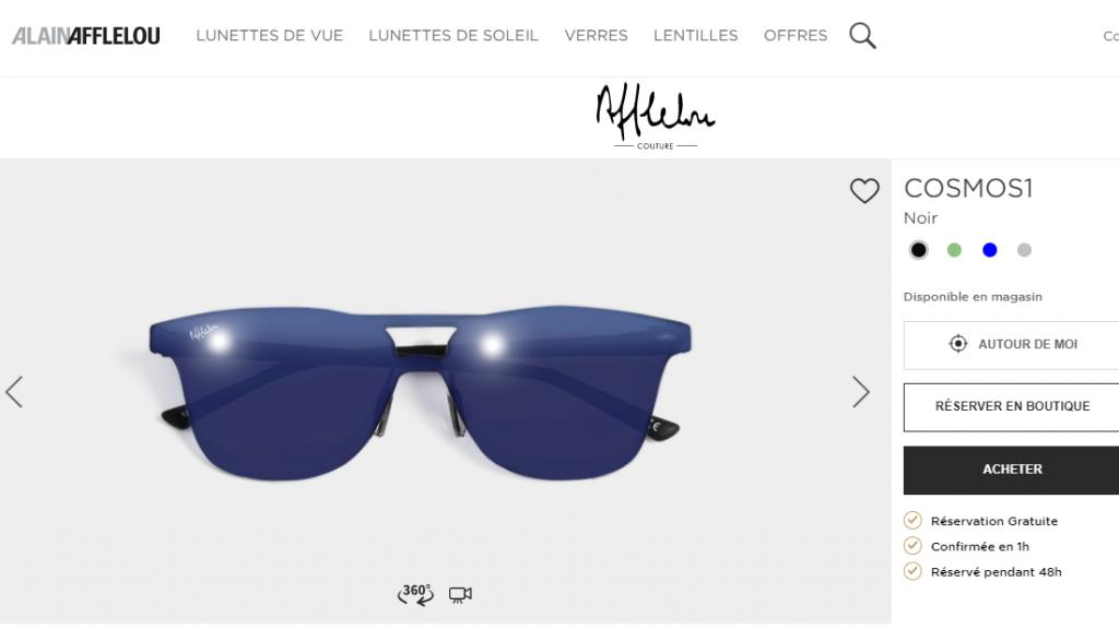 fotografía de gafas para un sitio en línea