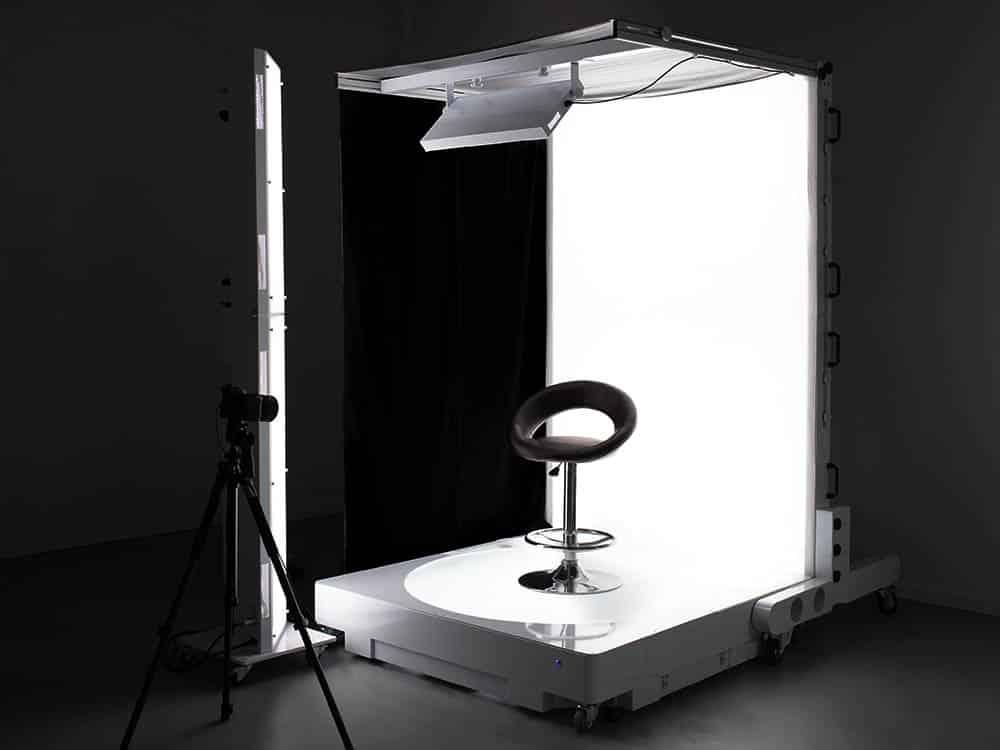 estudio fotográfico transformable para fotos de productos en 360