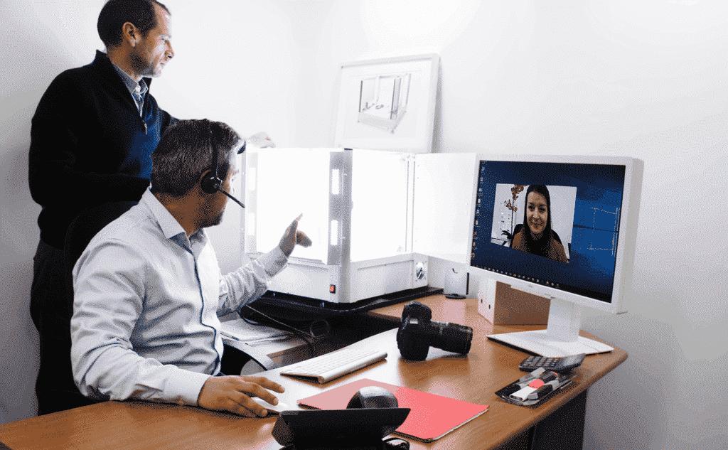Online-Vorführung und Schulung zum Einsatz der Foto-Software und/oder des LED-Beleuchtungssystems