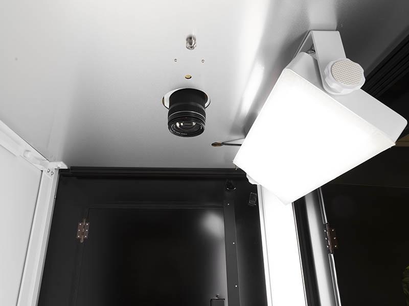 sistema de iluminacion en un estudio fotográfico automatizado
