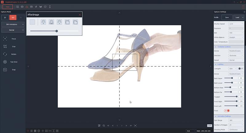 Colocar un zapato de tacón de en el estudio