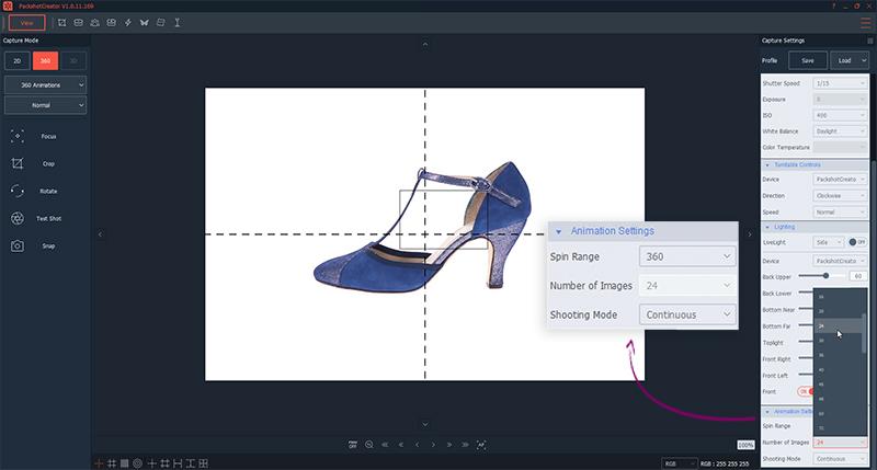 personalizar una foto 360° de zapatos