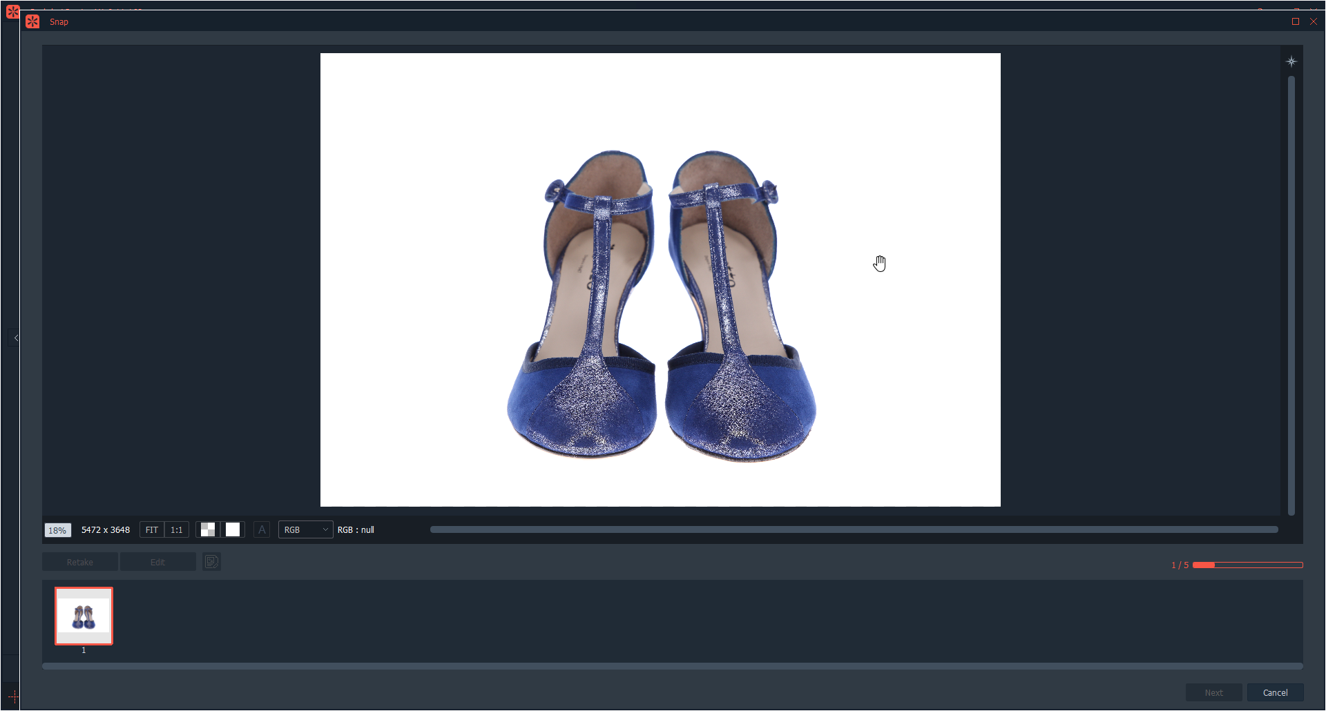 Multi angle customed defined for shoes photography