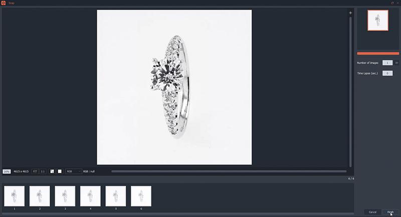 Recopilación automática de las fotografías de sus anillos