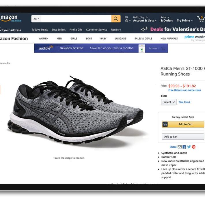 como hacer fotos para tienda online - foto zapatos Amazon