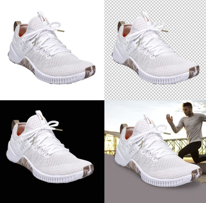 automatically remove the background of your shoes photos with AutoMask feature