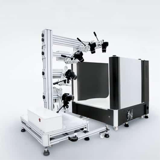 añadir un estudio fotográfico y un multibrazo para crear fotos de productos en 3D
